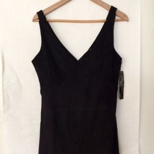 WYLDR Short black suede like - party dress XS